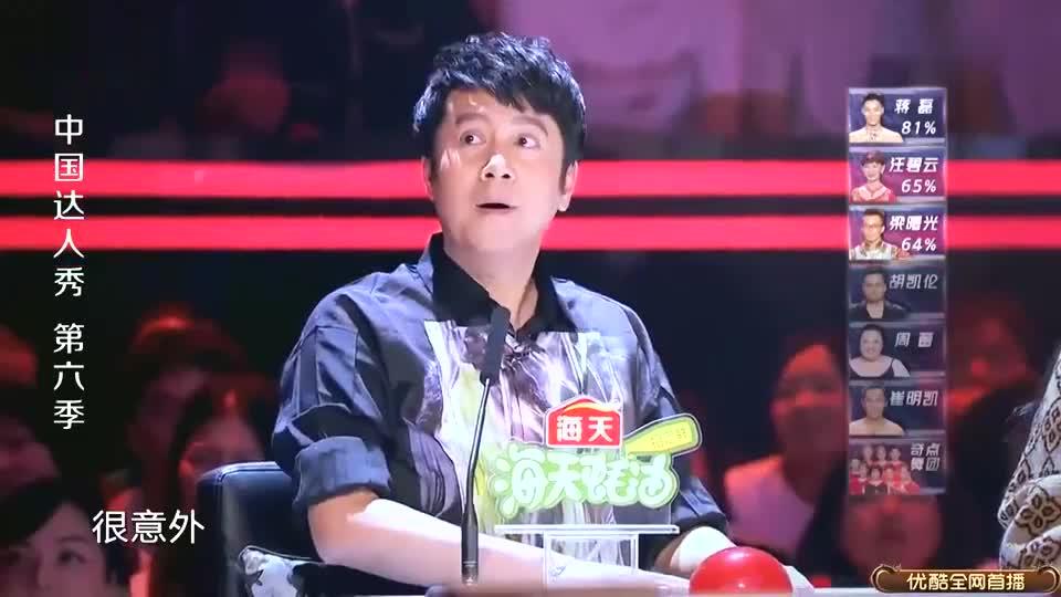 中国达人秀第六季:梁曙光的得分引来嘘声,分数超低出乎意料