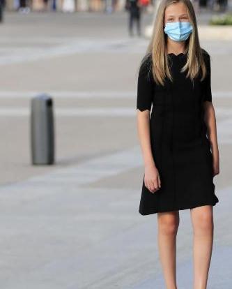 15岁莱昂诺尔公主小黑裙亮相,未来女王告别童年,迈向成熟