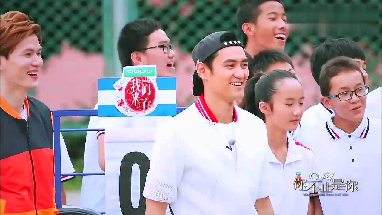 陈乔恩PK奚梦瑶篮球,还没开始就扰乱规则,江一燕彻底懵圈