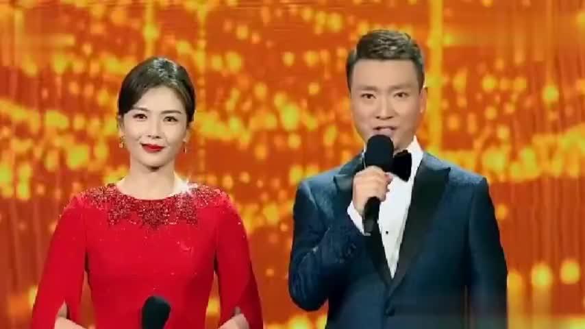 刘涛登央视国庆晚会当主持人,一袭红裙端庄大气,搭档康辉