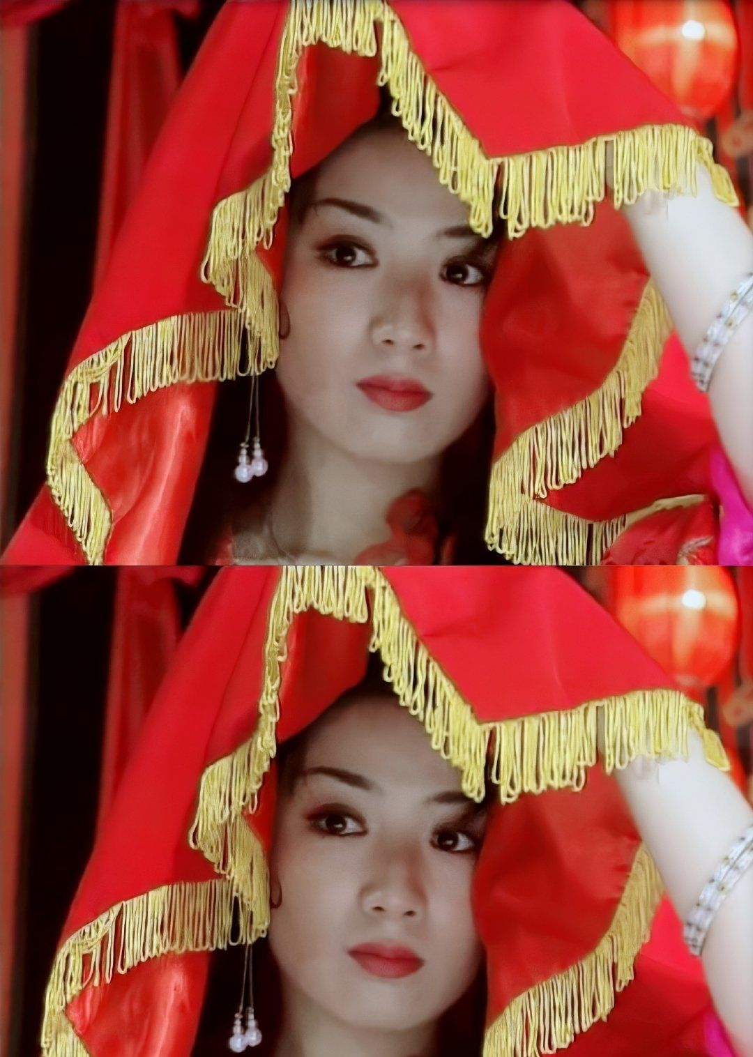 黄奕在《上错花轿嫁对郎》里有多美,看图说话。