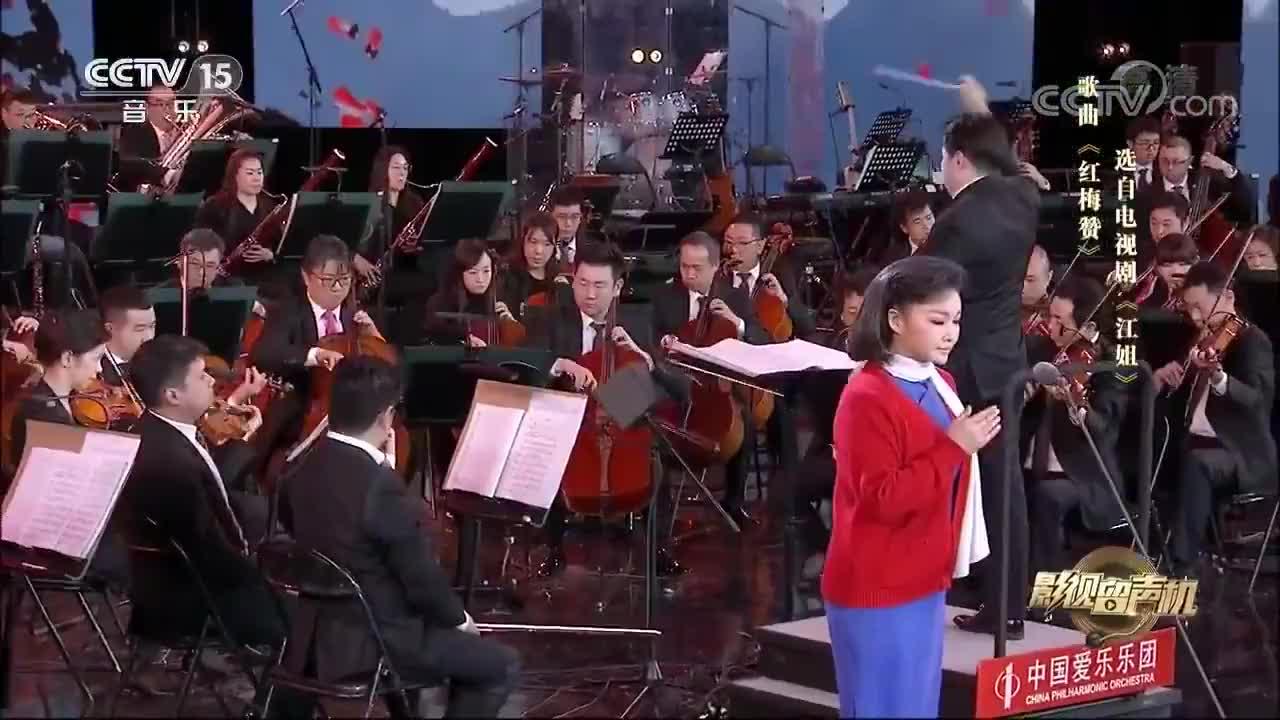 王莉一身国民风演唱《红梅赞》,经典老歌,回味无穷!