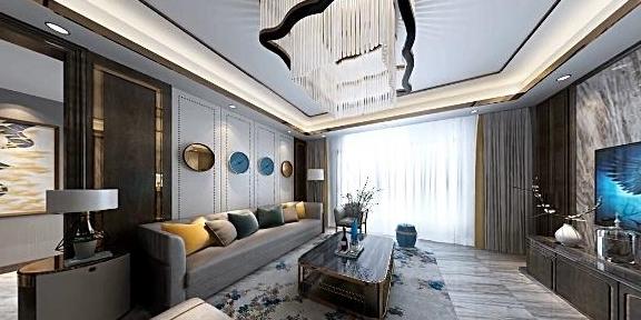 95㎡简欧两室,客厅舒适有格调,全房定制储物柜,实用极了!