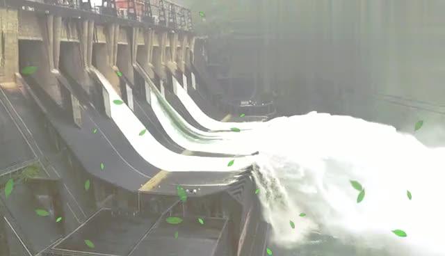 好嗨哦!杭州建德新安江水电站年一次的泄洪,场面壮观宏伟!