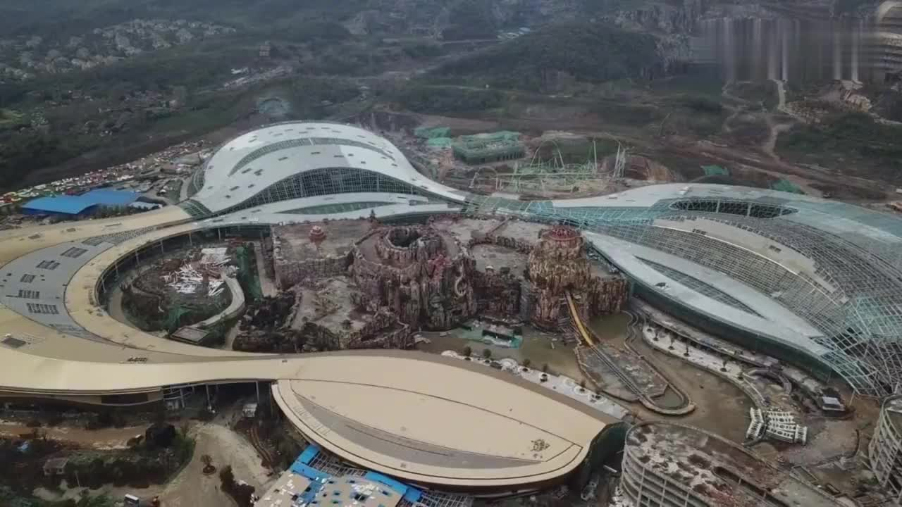亚洲第一南京龙之谷室内主题公园如今建成什么样空中带你看