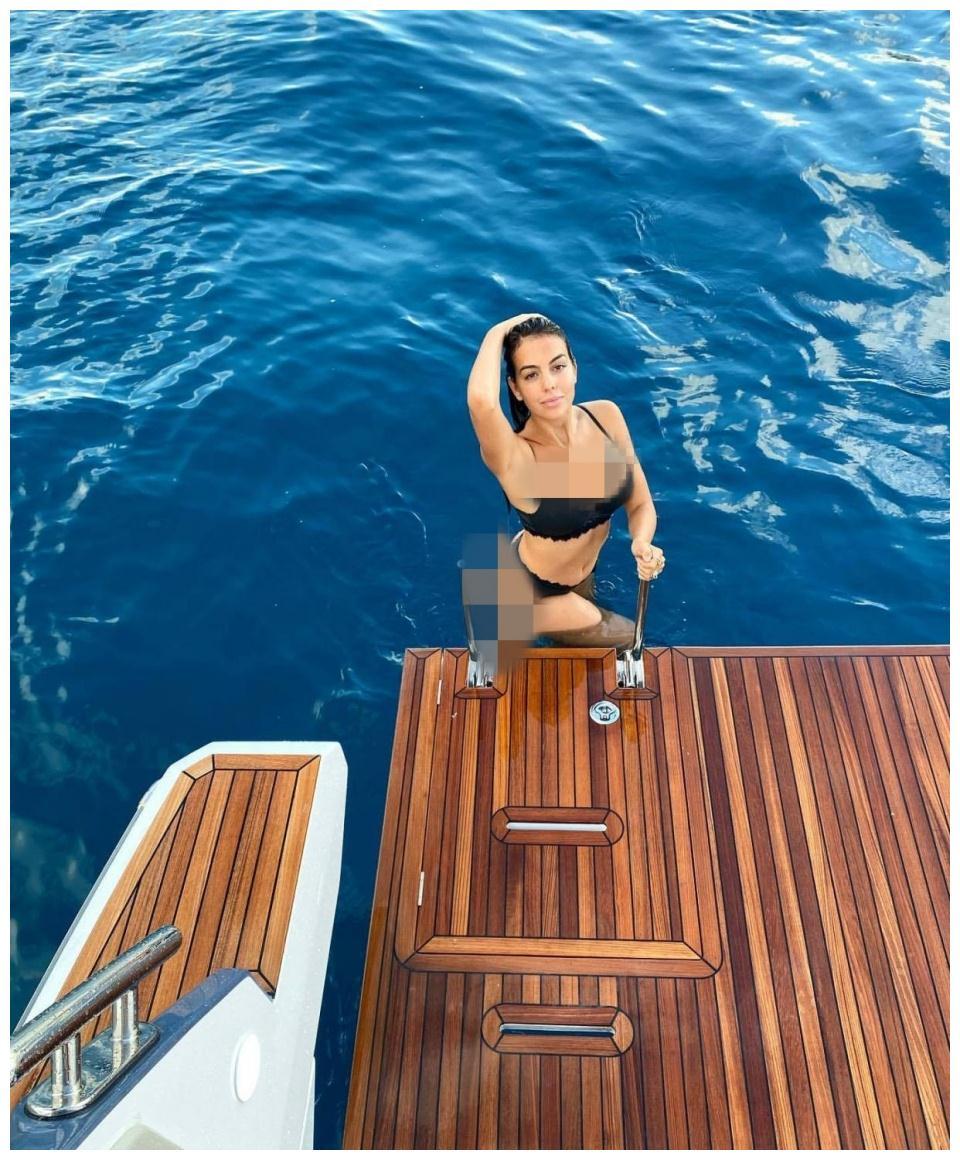 乔治娜游泳后登船照美若天仙,总裁C罗评论:世界上最美的女人
