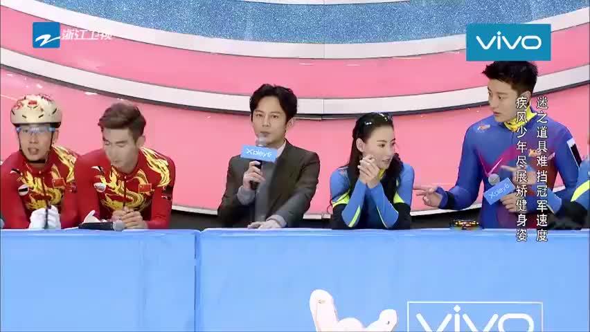 终结者队使用锦囊,武大靖必须穿上冰球服滑冰,教练瞬间心疼!