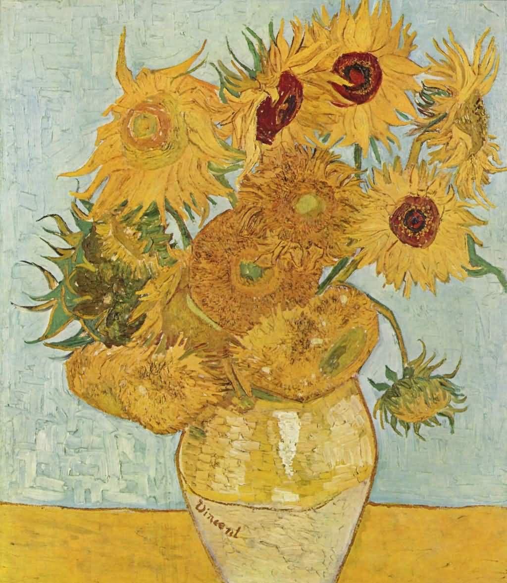 他的向日葵,是他用灵魂赋予的,用生命创作的,这就是梵高