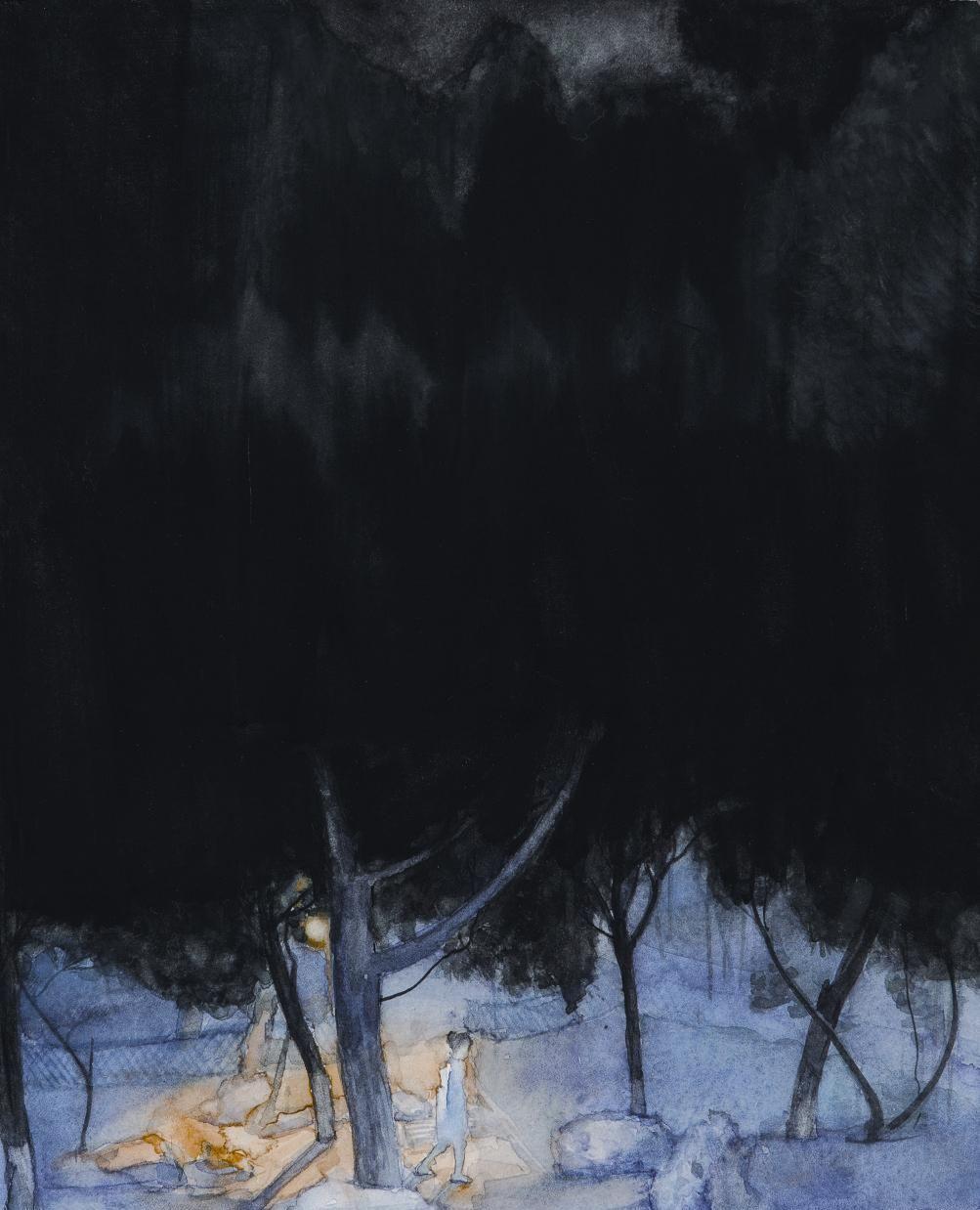 周春燕的几幅水彩和油画,唯美中透着抽象,具大家之气!