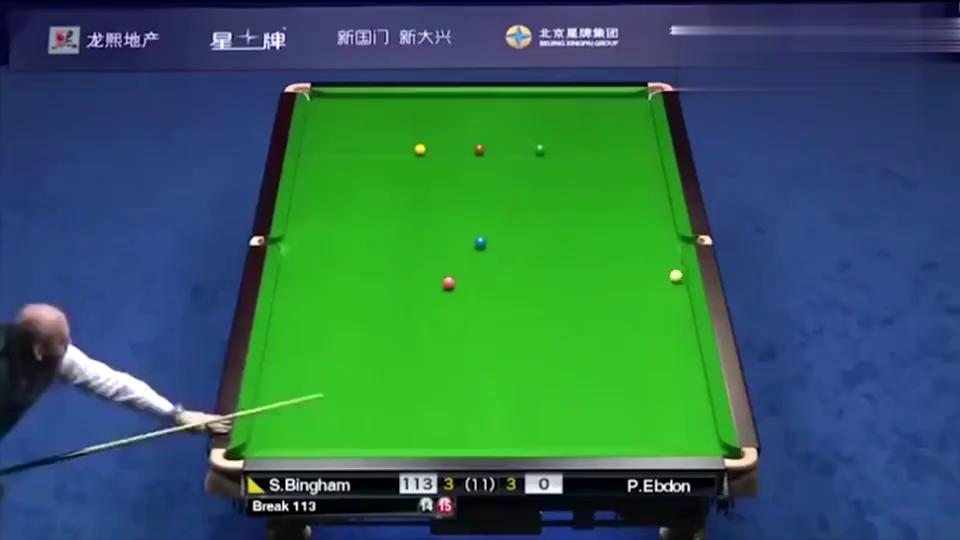 斯诺克中国公开赛,二师兄宾汉姆轰生涯第5杆147,厉害了