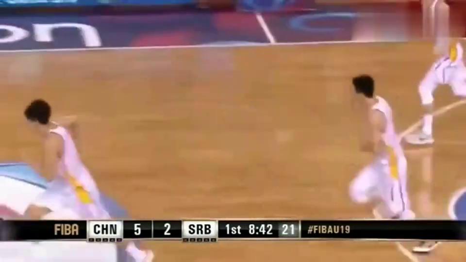 U19男篮世界杯:中国男篮vs塞尔维亚,徐杰妙传很精彩啊!