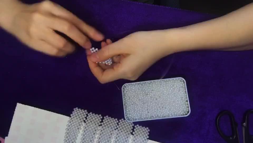 锌锌妈手工活 闲散人员妇女在家做手工活串珠发夹