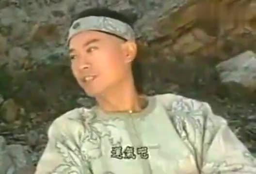 蔡国庆早期在《戏说乾隆》拍摄现场采访郑少秋