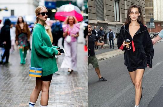今年春季流行骑行裤和百慕大短裤,两款裤装让你轻松秀大腿春夏