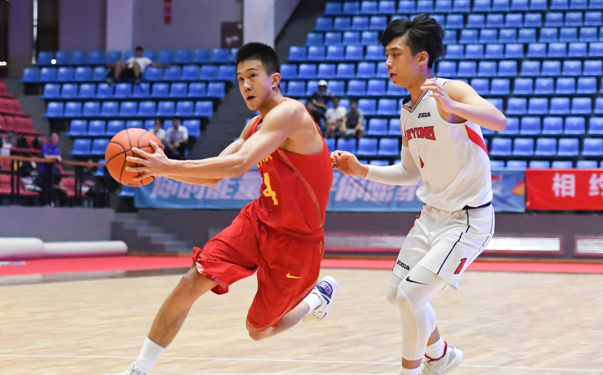 篮球——中日韩青少年运动会:中国男队胜韩国男队