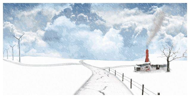 今天内蒙古下雪了