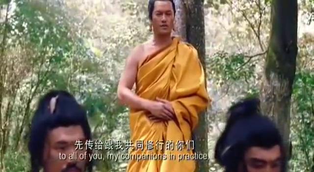 下雨天蟒蛇为佛祖挡雨,毒龙被释迦牟尼感化变成小蛇