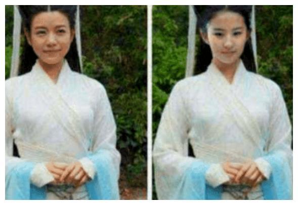 """都说陈妍希是被""""鸡腿头""""拖累,当刘亦菲换上后,才知颜值是硬伤"""