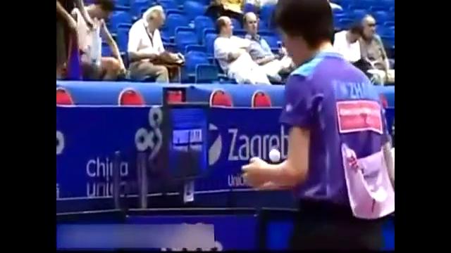 看了这么多削球,还是张怡宁打削球解气,特别是打世界第一金景娥