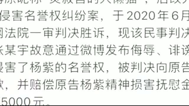 杨紫名誉权纠纷案胜诉 工作室将把所获赔款捐赠