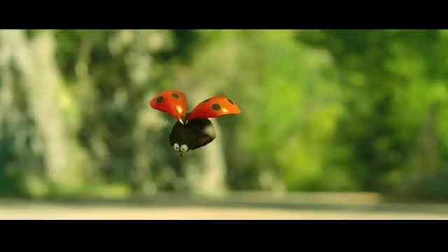 《昆虫总动员》小瓢虫打败了苍蝇们很开心,和另一只瓢虫重新出发