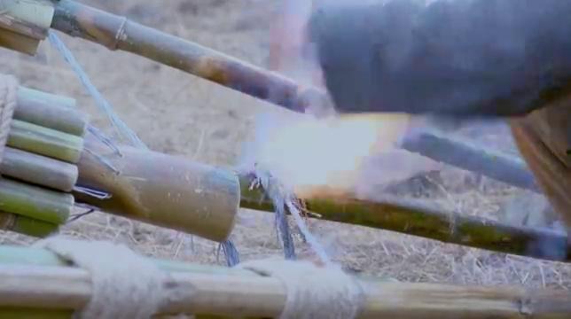 地雷战:赵化龙研制新地雷,一发上天炸炮楼,不愧是地雷大王!