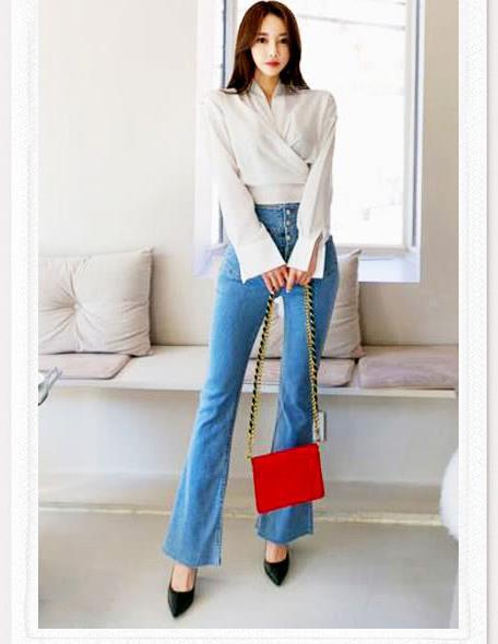 牛仔裤搭配简洁,舒适时尚,帅气干练非常百搭