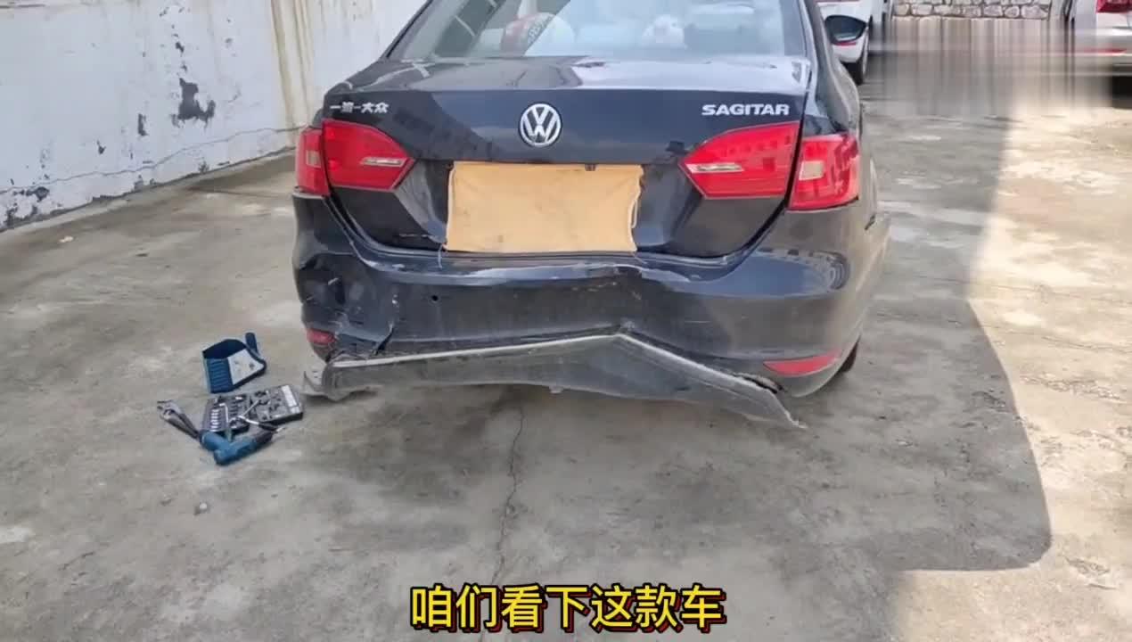 视频:大众速腾,行驶中被追尾,拆开以后发现防撞梁的作用真心安全