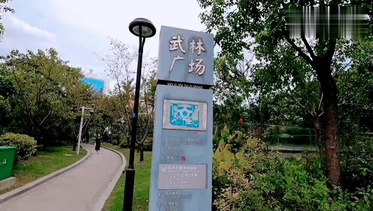 实拍美丽杭州市中心,不愧是新一线大城市,建设得太繁华了