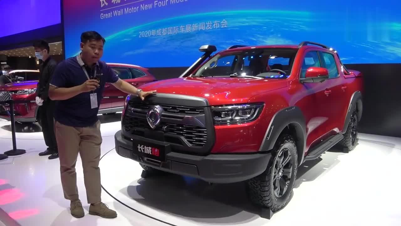 成都车展新车实拍:长城炮越野版推出柴油车型,售价15.38万元起