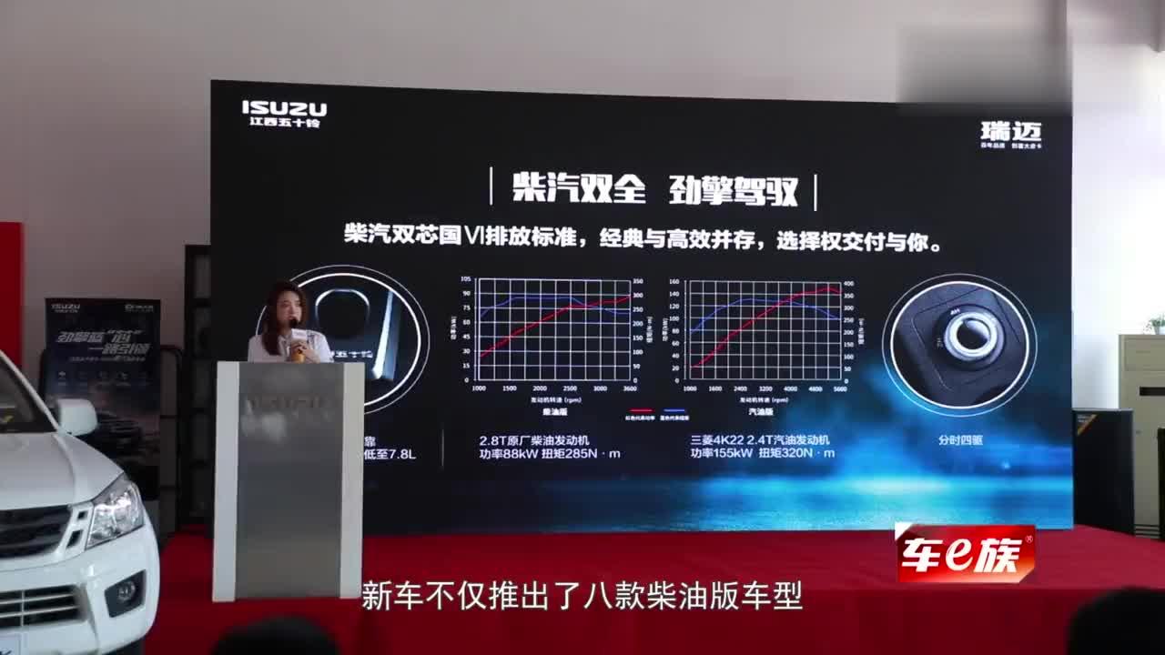 视频:江西五十铃2020款国六经典瑞迈重装上市8.38万起售