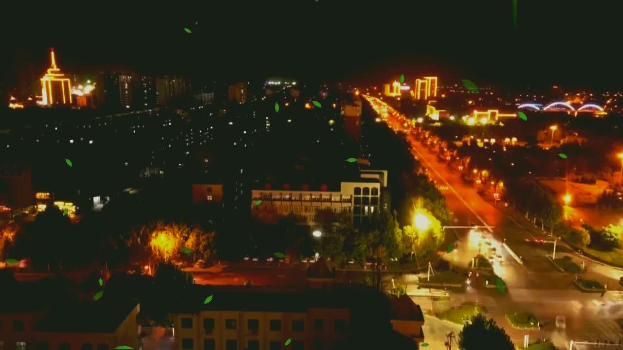 泗水繁华区夜景有多美,来看航拍视频就知道了,坐标金泉广场