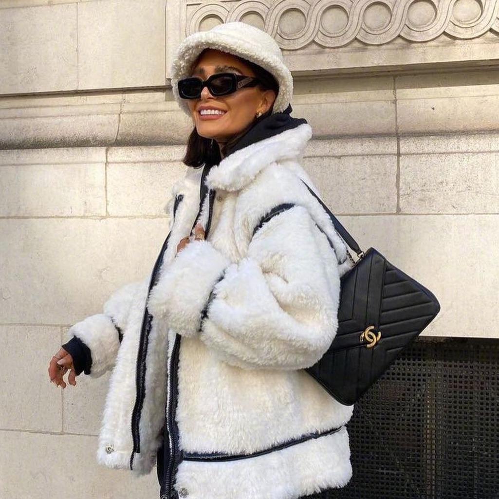 降温不要慌,保暖又时尚的羊羔毛外套来了,解决你的穿衣烦恼