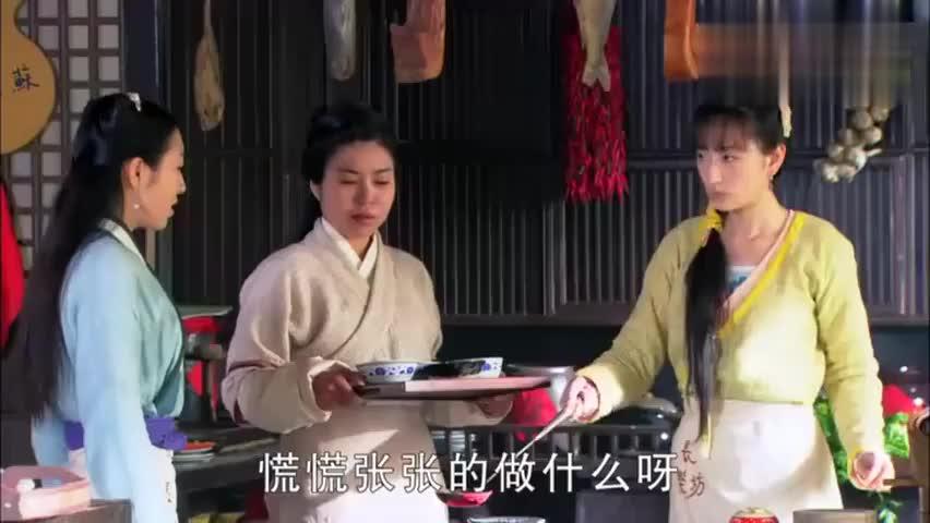 男子放着一桌子的菜不吃,非要吃煎菜饼,厨娘带了把大砍刀去找他
