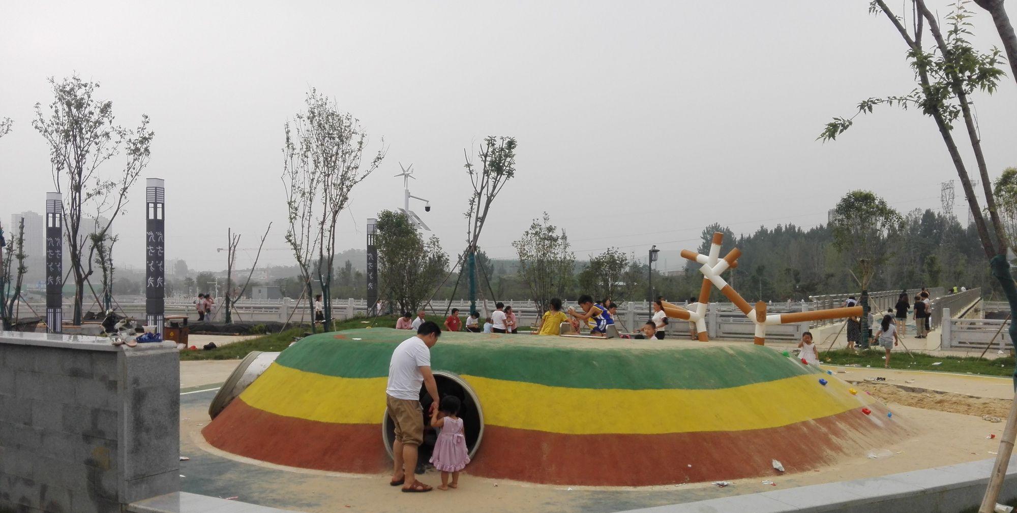水城建设的如火如荼,涧河上新建了四座桥,有空来玩吧