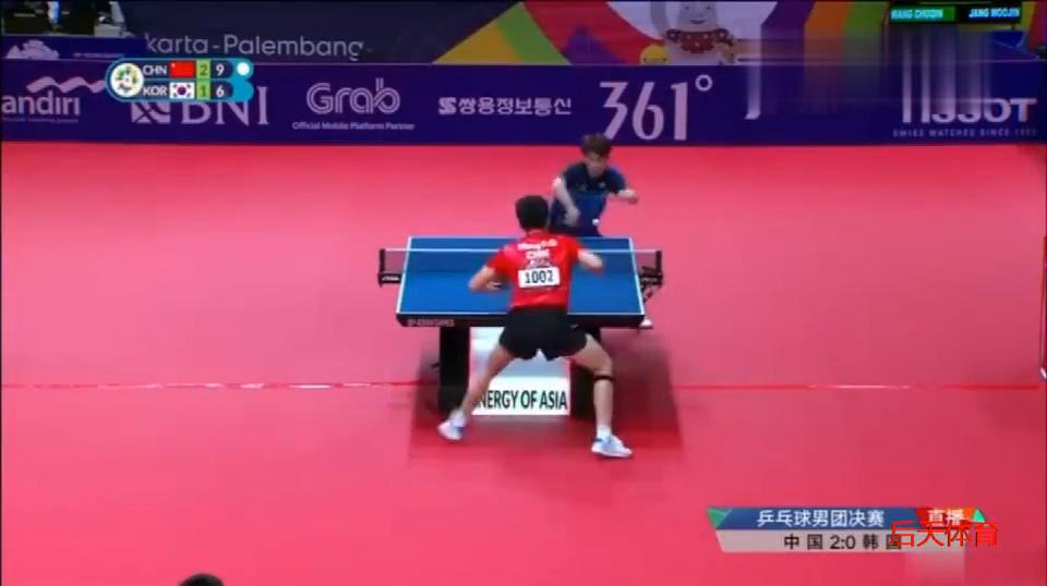恭喜,金牌!乒乓男团决赛,中国3比0横扫韩国夺冠!