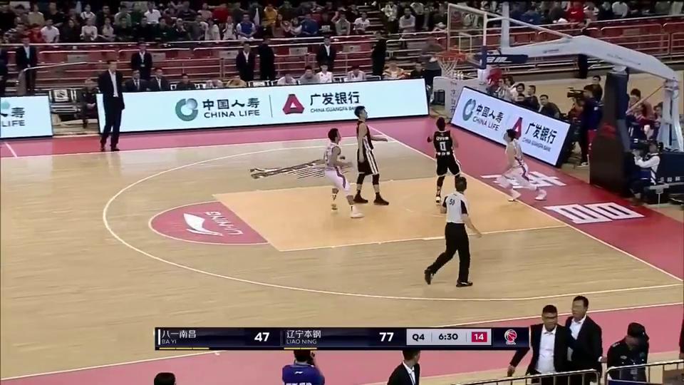 cba第7轮:辽宁队松懈了八一队再次前场断球得分