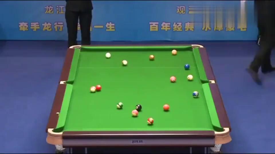 中式台球比赛,亨得利开球后,就再也没给对手机会拿下比赛!