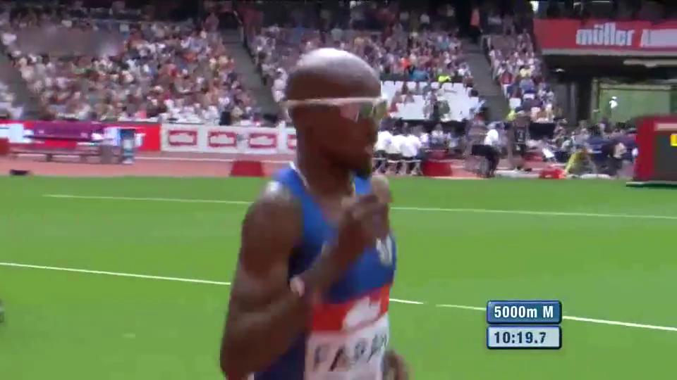 钻石联赛伦敦站男子5000米,最后的冲刺阶段运动员太酷了!