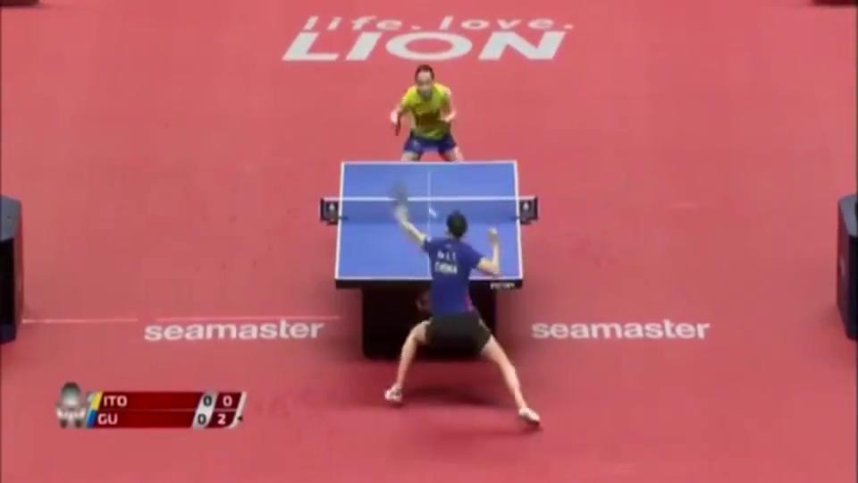 日本乒乓球公开赛,顾玉婷首轮淘汰伊藤美诚,干得漂亮