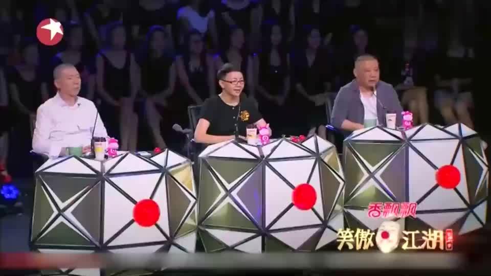 《笑傲江湖》刘亮白鸽现场演绎小品,冯小刚二话不说直接爆灯