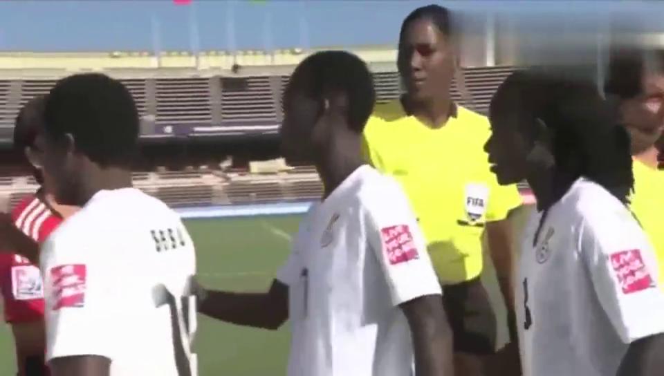 女足青年世界杯中国战胜加纳,精彩倒三角,赵鑫迪不停球抽