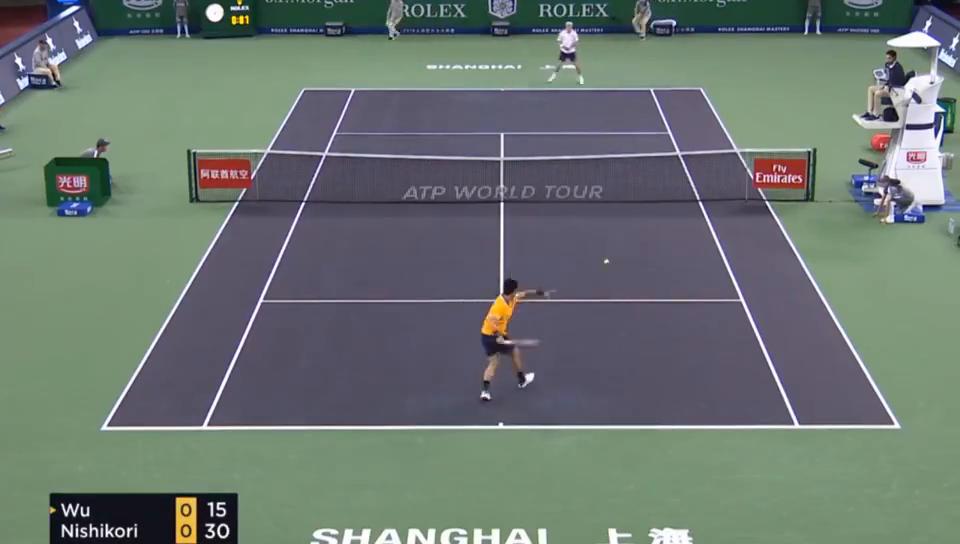 上海大师赛吴易昺吞蛋1-2遭锦织圭逆转无缘16强