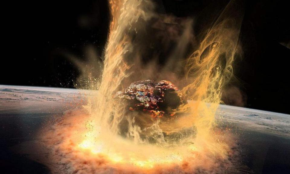 如果一颗直径100公里的小行星撞击地球会产生什么影响?