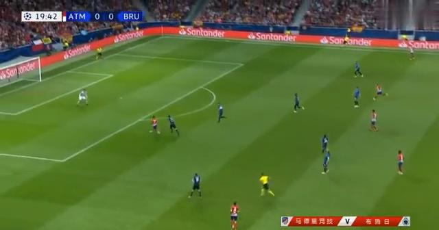欧冠小组赛马德里竞技3;1轻取布鲁日格里兹曼梅开二度全场集锦
