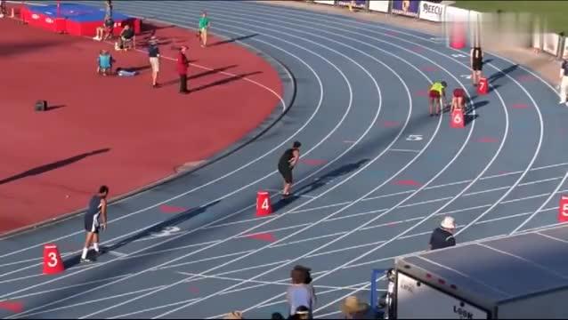 美大学联赛400米,两人绑一起跑,这能跑快吗?