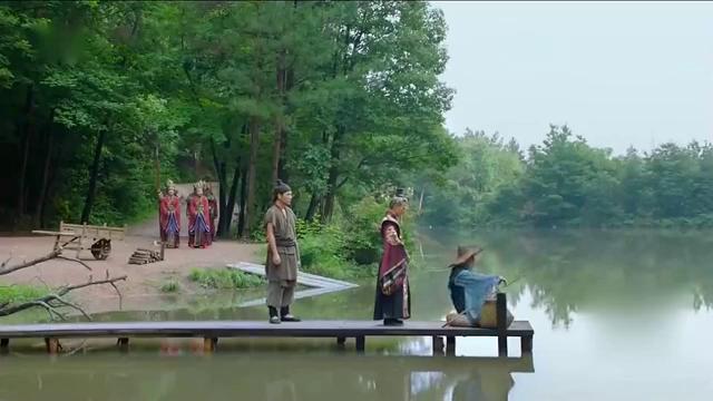 封神演义:姜子牙正钓鱼,不料未来的周文王姬昌,前来跪迎姜子牙