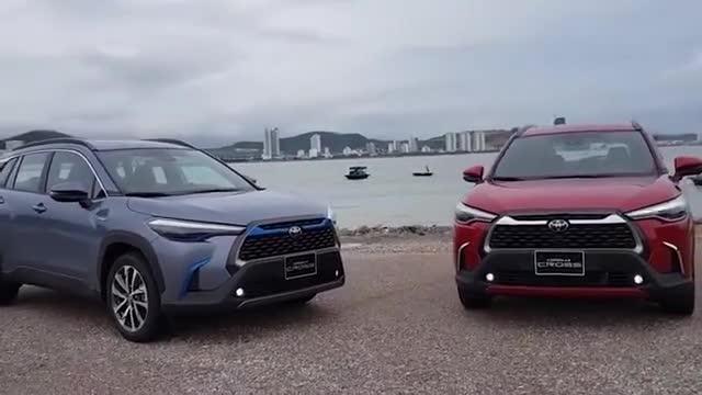 2021款丰田卡罗拉Cross不同颜色版本车型实拍,买哪款自己拿主意