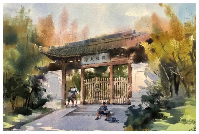 上海市美术家协会理事、国家一级美术师梁钢水彩画作品欣赏