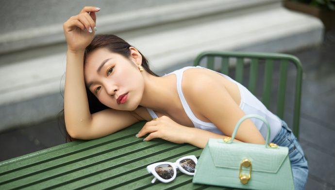 薄荷绿是属于夏天的颜色,轻欧美风